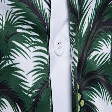 fashion designer dress shirt 2017 hawaiian shirt 3d palm trees