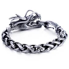stainless steel bracelet price images High quality stainless steel dragon 39 s head braid wheat chain no jpg