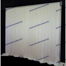 Wedding Backdrop And Stand Aliexpress Com Buy Wedding Curtain Drape And Pipe Chiffon White