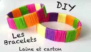 creation avec des rouleaux de papier toilette diy création bracelet avec du papier et de la laine youtube