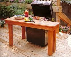 stylish bbq tables outdoor furniture outdoor wood project plans