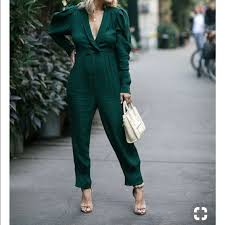 green jumpsuit free free green jumpsuit from nacole s closet on
