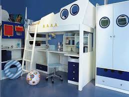 kids bunk beds with desk underneath grat tile floor loft bunk beds