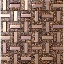 kitchen backsplash mosaic glass tiles plated gold glass tile kitchen backsplash