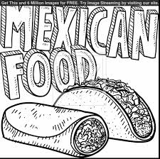 surprising mexican food coloring pages printable with mexico