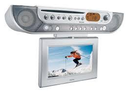 under cabinet tvs kitchen kitchen clock radio ajl700 37 philips