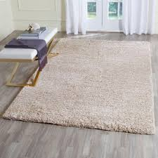 Shag Carpet Area Rugs Safavieh Ultimate Shag Sand Ivory 8 Ft X 10 Ft Area Rug Sgu211c