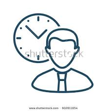 businessman clock vector icon meaning business stock vector