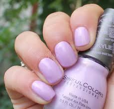 sinful colors silhouette a lavender nail polish with a soft gold