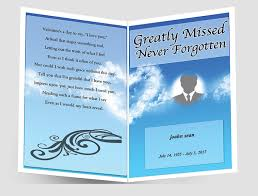 create funeral programs sky blue funeral program template funeral