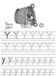 alphabet letter y for yarn worksheet coloring page bulk color