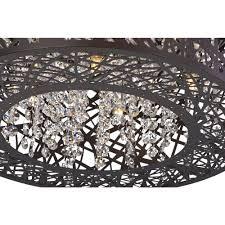 Et2 Inca 9 Light Pendant Inca Bronze Pendant Light With Drum Shade E21309 10bz