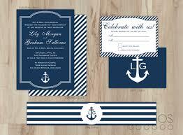 elegant nautical wedding invitations nautical beauty wedding