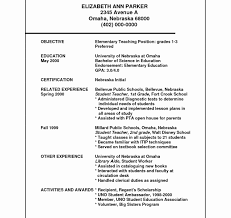 exles of elementary resumes resume template resumes sles for teachers exles changing