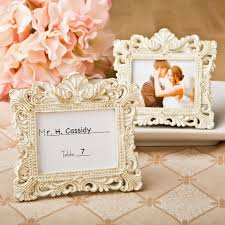 Picture Frame Centerpieces by Ivory Baroque Place Card Frame Holders Pack Of 5 Wedding