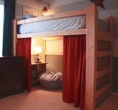 white wooden loft bed full size ideas wooden loft bed full size