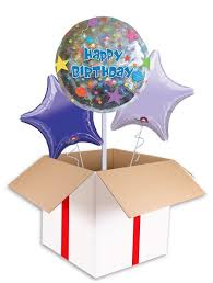 inflated balloons delivered happy birthday confetti balloon delivered inflated in uk