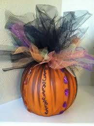 Halloween Centerpieces Halloween Decor Halloween Centerpiece Faux Craft Pumpkin