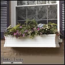 vinyl window boxes u0026 vinyl flower boxes hooks u0026 lattice