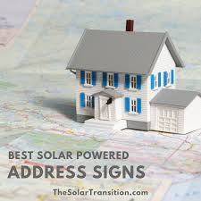 Solar Powered Address Light - best solar powered address signs the solar transition
