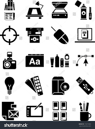 design icons graphic design icons stock vector 115271650
