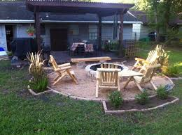 Firepit In Backyard Garden Design Garden Design With Kansas City Pits And