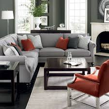 sumptuous bernhardt sofa in living room contemporary with low