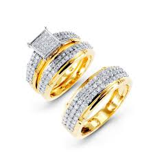 wedding ring trio sets 14k yellow gold fancy diamond wedding rings trio trio sets