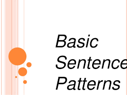 pattern worksheets basic sentence pattern worksheets with