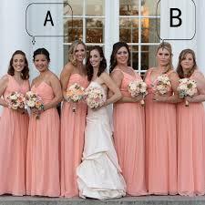 plus size peach color bridesmaid dresses elegant chiffon long