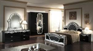 vig furniture italian classic 5 piece bedroom set black silver