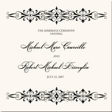 calligraphic flourishes custom monograms wedding place cards