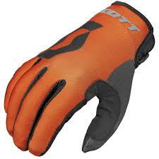 cheap motocross gloves scott 350 track gloves kids orange black offroad high end high