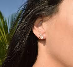 diamond stud earring large herkimer diamond stud earrings in gold sterling