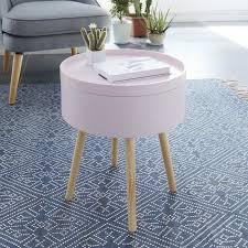 bout de canapé m table d appoint bout de canapé ronde scandinave laqué mat