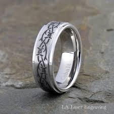 7 mm cobalt wedding band with celtic ornament lalaserengraving