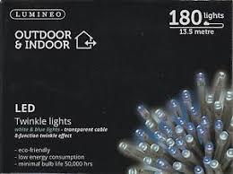 lumineo indoor outdoor led twinkle lights 180 13 5m led s white