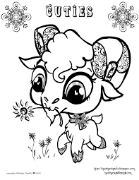 heather chavez free goat coloring page