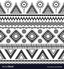 nail tribal aztec seamless pattern royalty free vector image