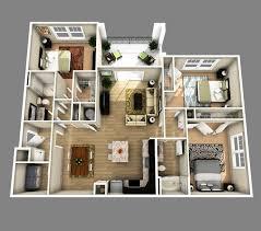 3 bedroom 2 bathroom 2 bedroom house plan 3d fresh 3d open floor plan 3 bedroom 2