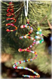 homemade beaded christmas tree ornaments for kids beaded
