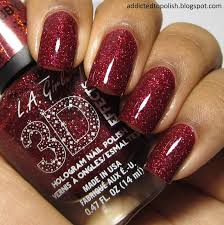addicted to polish l a 3d effects sparkle ruby