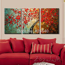 living room wall paintings tree painting on canvas wall art paintings for living room 3 decor 0