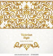 Border Designs For Birthday Cards Vector Set Golden Vignettes Borders Design Stock Vector 461138278