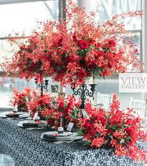 Red And Black Wedding Alluring Red And Black Lace Wedding Theme Elegantwedding Ca