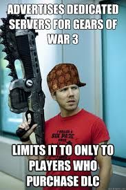 Gears Of War Meme - advertises dedicated servers for gears of war 3 limits it to only