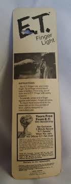 E T Finger Light Knickerbocker 1982