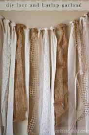 Ivory Burlap Curtains Top 10 Creative Diy Burlap Projects Lace Garland Burlap And