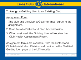 Assignment Form Certified Guiding Lion Program Ppt Download