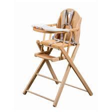 chaise haute bébé pliante chaise haute pliante naturel chaise haute fixe de kid or adbb